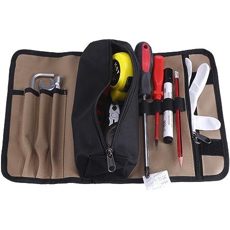 Bolsa organizadora para herramientas tela Oxford, 22 bolsillos, pr/áctica para electricista HunterBee