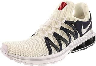 Nike Men's Shox Gravity Ankle-High Running Shoe - 8M - White/Metallic Silver - White