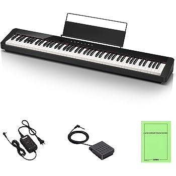 カシオ(CASIO) Privia PX-S1000BK(ブラック) 88鍵盤 電子ピアノ デザイン性と高いピアノ性能で人気 Bluetoothスピーカーとして使用可能