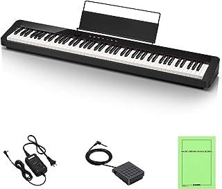カシオ(CASIO) Privia PX-S1000BK(ブラック) 88鍵盤 電子ピアノ デザイン性と高いピアノ性能で人気 Bluetoothスピーカーとして使用可能...