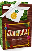 Personalized Tiki Luau - Custom Tropical Hawaiian Summer Party Favor Boxes - Set of 12