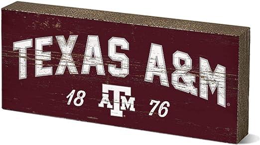 NCAA Legacy Texas A/&M Aggies Mini Table Top Stick 2.5x6 One Size Wood