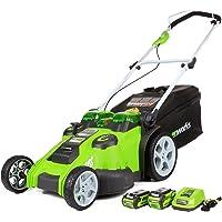 GreenWorks G-Max 20 Inch Twin Force 40V Li-Ion Cordless Lawn Mower
