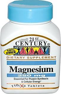 أقراص ماغنيسيوم، من 21 ست سنشري 250 ملجرام، 110 أقراص