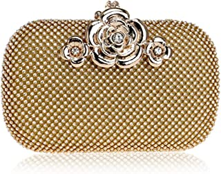 Fine Bag/Wedding Evening Bags Formal Clutch Purse Crystal Evening Handbag for Women Banquet Bag (Color : Gold, Size : One Size)
