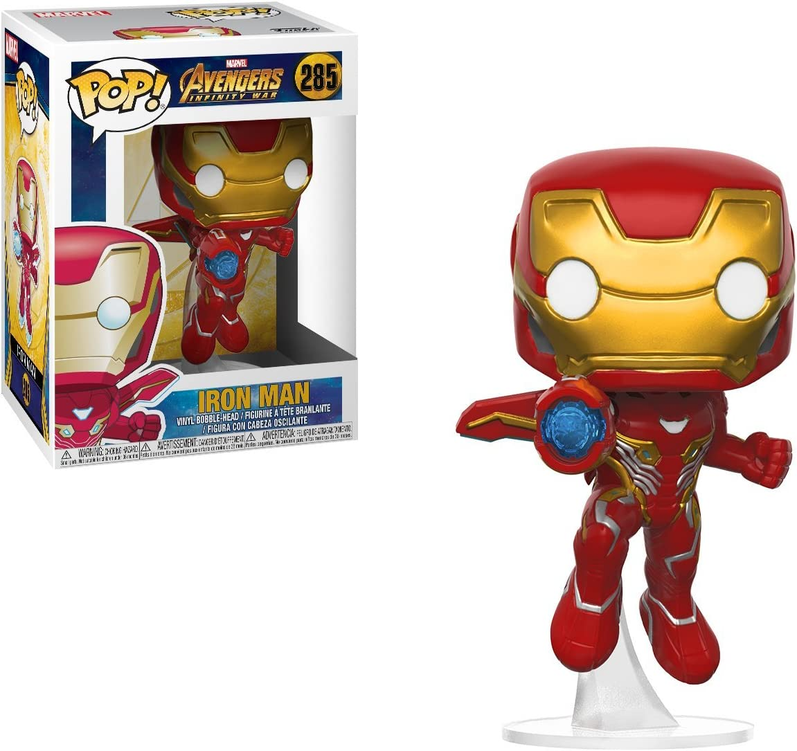Funko 26463 Avengers Infinity War 26463 Pop Bobble Marvel Iron Man Collectible Figure, Multicolor