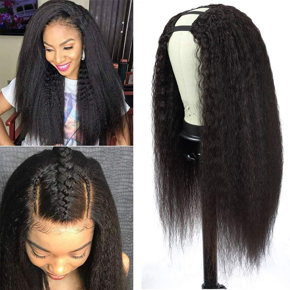 20 Inch U Part Wigs for Black Kinky Hair Straight Women All Direct stock discount stores are sold Wi Human