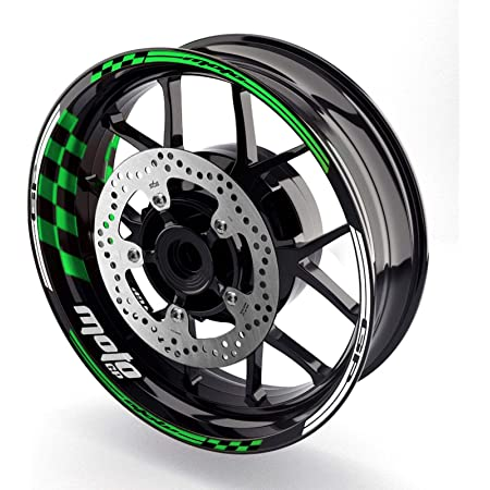 KETABAO 17 inch Rim Stickers Wheel Decals For Kawasaki ZX6R ZX636R ZX6RR Ninja 650R ER6F ER6N Vulcan Aqua