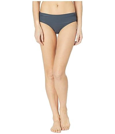 MICHAEL Michael Kors Iconic Solids Shirred Bikini Bottoms (Gunmetal) Women