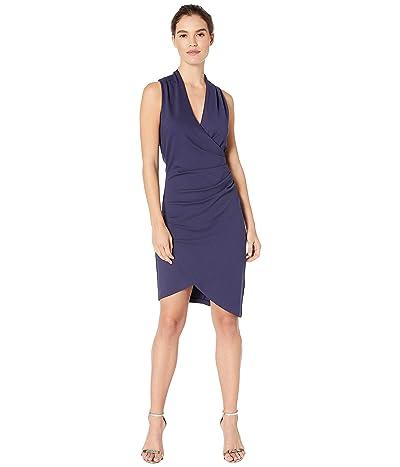 Nicole Miller Ponte Stefanie Dress (Navy) Women