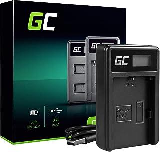 Green Cell LC-E6 LC-E6E LC-E6N Cargador para Canon LP-E6 Batería y EOS 5D Mark II EOS 5D Mark III EOS 60D EOS 60DA EOS 6D EOS 7D Cámaras (5W 8.4V 0.6A Negro)