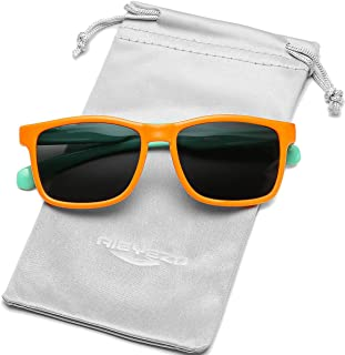 نظارات شمسية مستقطبة للأطفال من مادة TPEE مطاطية مرنة للحماية من الأشعة فوق البنفسجية، للبنات والأولاد من سن 2-8