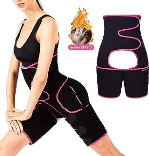 MIZATTO Women's Waist Trainer Thigh Trimmer, 3 in 1 Neoprene Butt Lifter Shapewear Belt