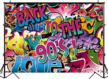 Huayi Graffiti Musik 90 Mottoparty Dekoration Kamera