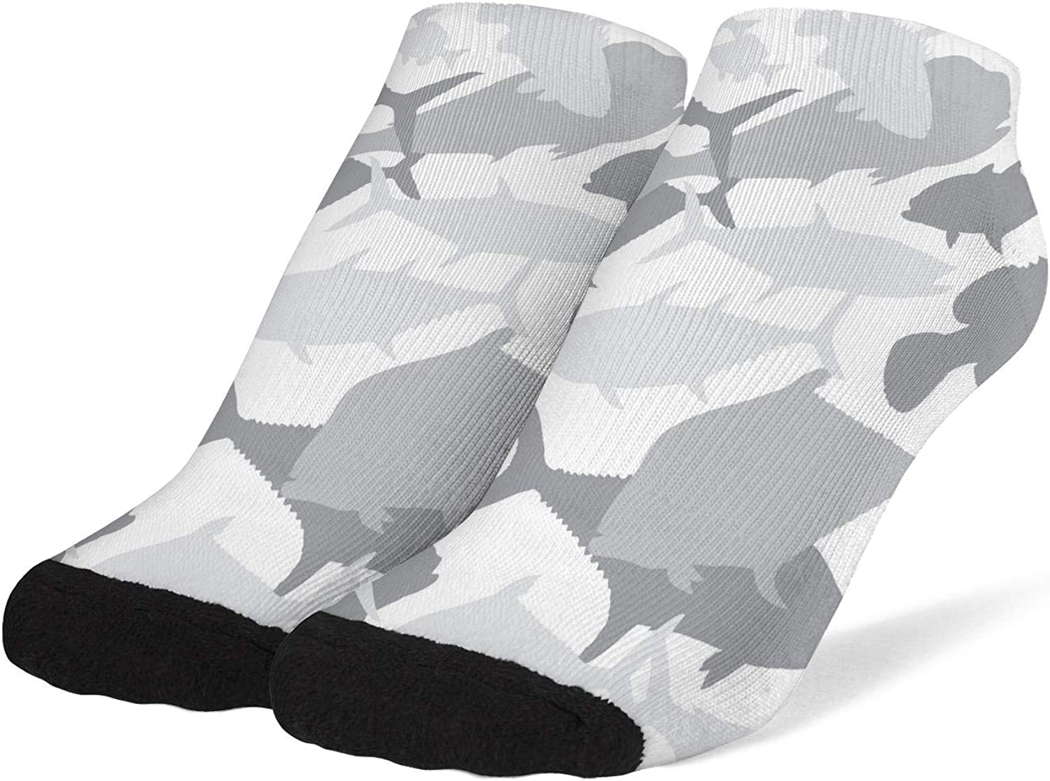 Women's Army Camo Camouflage Military Socks Cotton No Show Low Cut Sock Ankle Sock