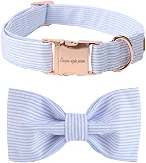 USP Pet Soft &Comfy Bowtie Dog Collar and Cat Collar Pet Gift for Dogs and Cats 6 Size and 7 Patterns