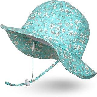 Ami&Li tots Fille Chapeau de Soleil Réglable Large Bord Chapeau Protection Solaire UPF 50 pour Bébé Fille Garçon Nourrisso...