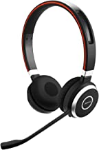 Jabra Evolve 65 UC Wireless Headset, Stereo – Includes Link 370 USB Adapter – Bluetooth Headset with Industry-Leading Wireless Performance, Passive Noise Cancellation, All Day Battery, Stereo Speaker, Model: 6599-829-409