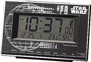 STAR WARS (スターウォーズ) 目覚まし時計 電波 キャラクター デジタル ローグ・ワン (デス・スター) 【 限定商品 】 黒 リズム時計 8RZ133MD02