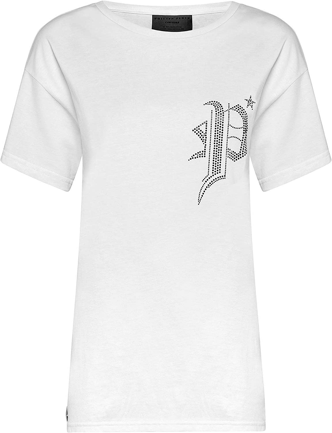 PHILIPP PLEIN Women's P19CWTK1341PJY002N0102 White Cotton TShirt