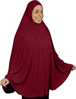 "TheHijabStore.com Extra Long 51"" Lycra Amira Hijab Khimar Dress Burkas Clothing for Women Prayer Niqab Dress Burqa"
