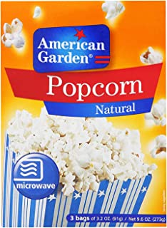 American Garden Microwave Natural Popcorn, 91 g