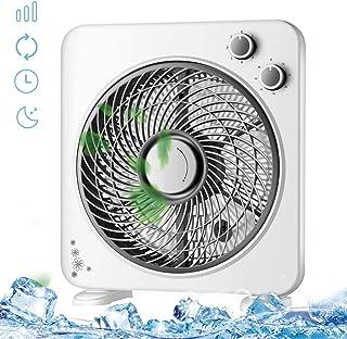 LUOTIANLANG Ventilator Grow Box da Silenzioso Ventilator de 3 velocidades de Potencia Portátil y Personal para el Hogar Yla Oficina Silencioso y Potente Ventilador de Suelo Ventilador Sobremesa,Negro