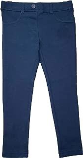 Girls Navy School Uniform Stretch Ponte Knit Jegging
