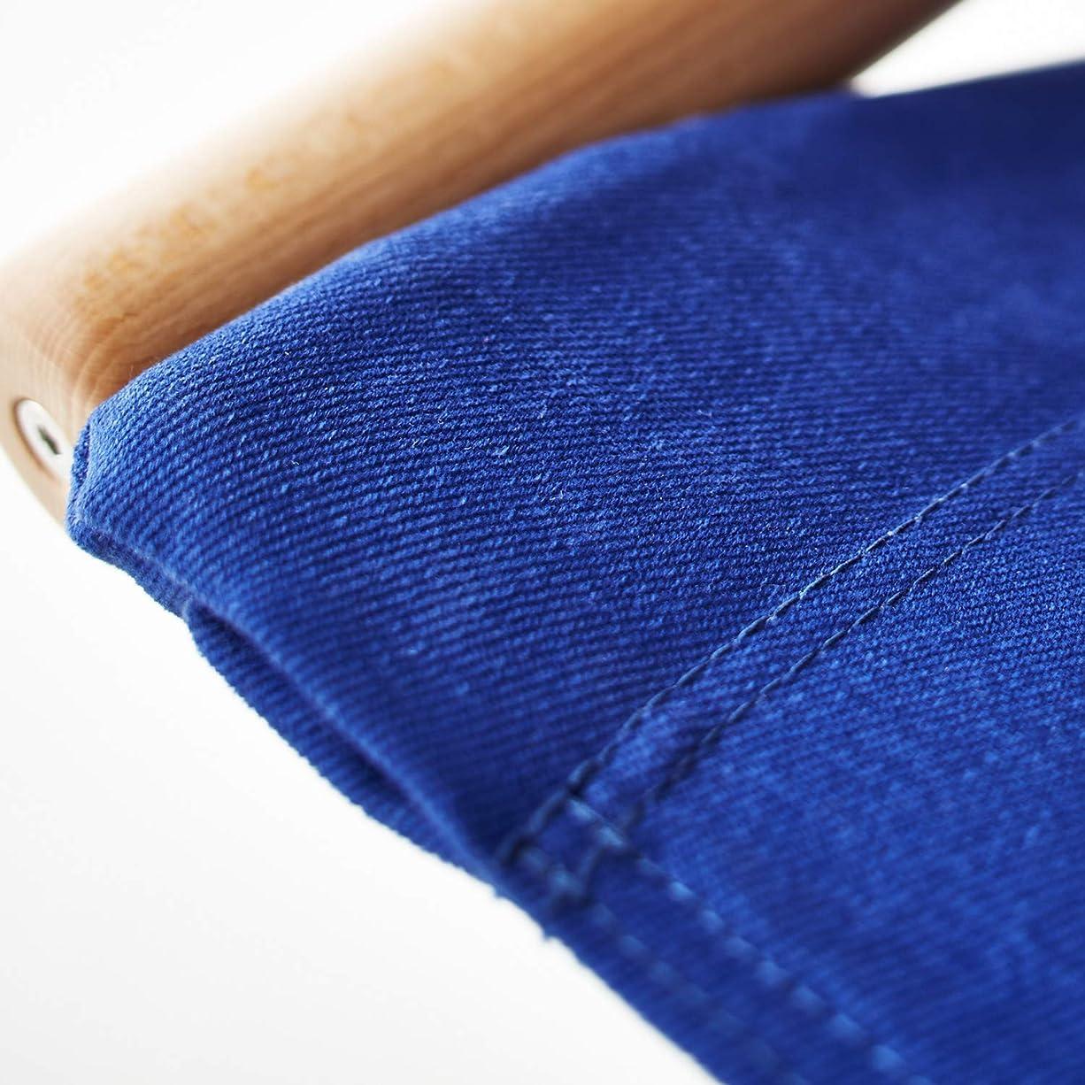 政治のみ荒涼とした藤栄 折りたたみチェア ブルー W51.3×D118 ニーチェアエックス 交換用シート NY-113
