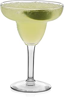 Libbey Margarita Party Glasses, Set of 12 , Clear , 9 oz - 8429YS12A