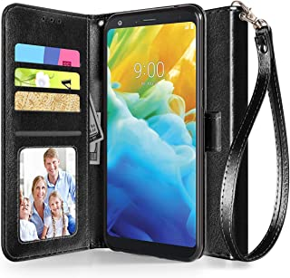 LG Stylo 5 Case, ADroid Luxury PU Leather LG Stylo 5 Wallet Case with Kickstand Card Holder ID Slot and Hand Strap Shockproof Protective Cover for LG Stylo 5-Black