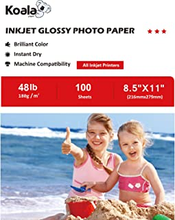 Koala Glossy Photo Paper 8.5x11 Inches 180gsm 100 Sheets Compatible with All Inkjet Printer
