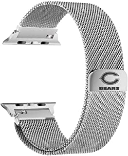 Game Time Chicago Bears Stainless Steel Mesh Band Compatible with Apple Watch - 42mm/44mm