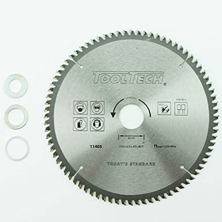 Universalsägeblatt HM 180 x 30 mm 24Z 2x Ring 25,4 und 16 mm Holz Kreissäge
