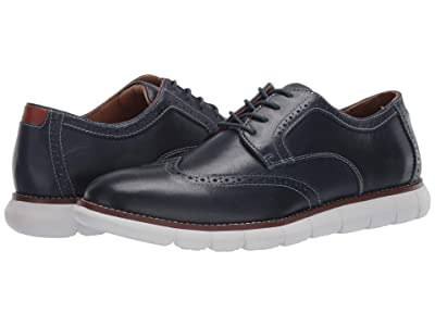 Johnston & Murphy Holden Wing Tip (Navy Full Grain) Men