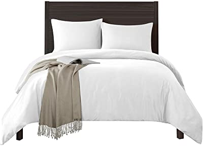 Mayfair Linen 800 Thread Count 3Pc White Oversized King Duvet Cover, 100% Long Staple Egyptian Cotton Quilt Cover Silky Soft, Breathable with Hidden Zipper Closure