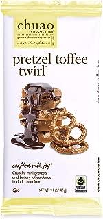 Chocolate Bars - Chuao Chocolatier Chocolate Bars 4pk (2.8 oz bars) - Best-Selling Chocolate Pack - Gourmet Artisan Chocolate - Free of Artificial Flavors (Pretzel Toffee Twirl)
