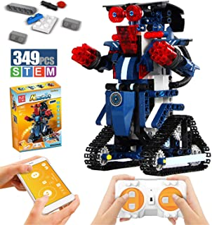 Ritastar APP Remote Control Building Block Robot Smart Tracked RC Motion Robots Building Bricks Kits Bulk Fun Creative Educational Learning STEM Toy for Boys Girls Kids Gift Age 6 and up (Navy,349pcs)