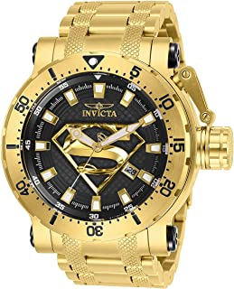Invicta Mens DC Comics Automatic-self-Wind Watch with Stainless-Steel Strap,