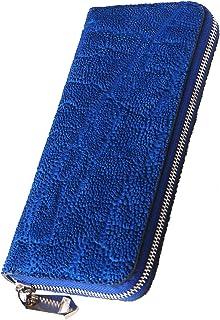 ZOO(ズー) 象の鼻の革 ピューマウォレット20 ラウンドファスナー 長財布 ブルー