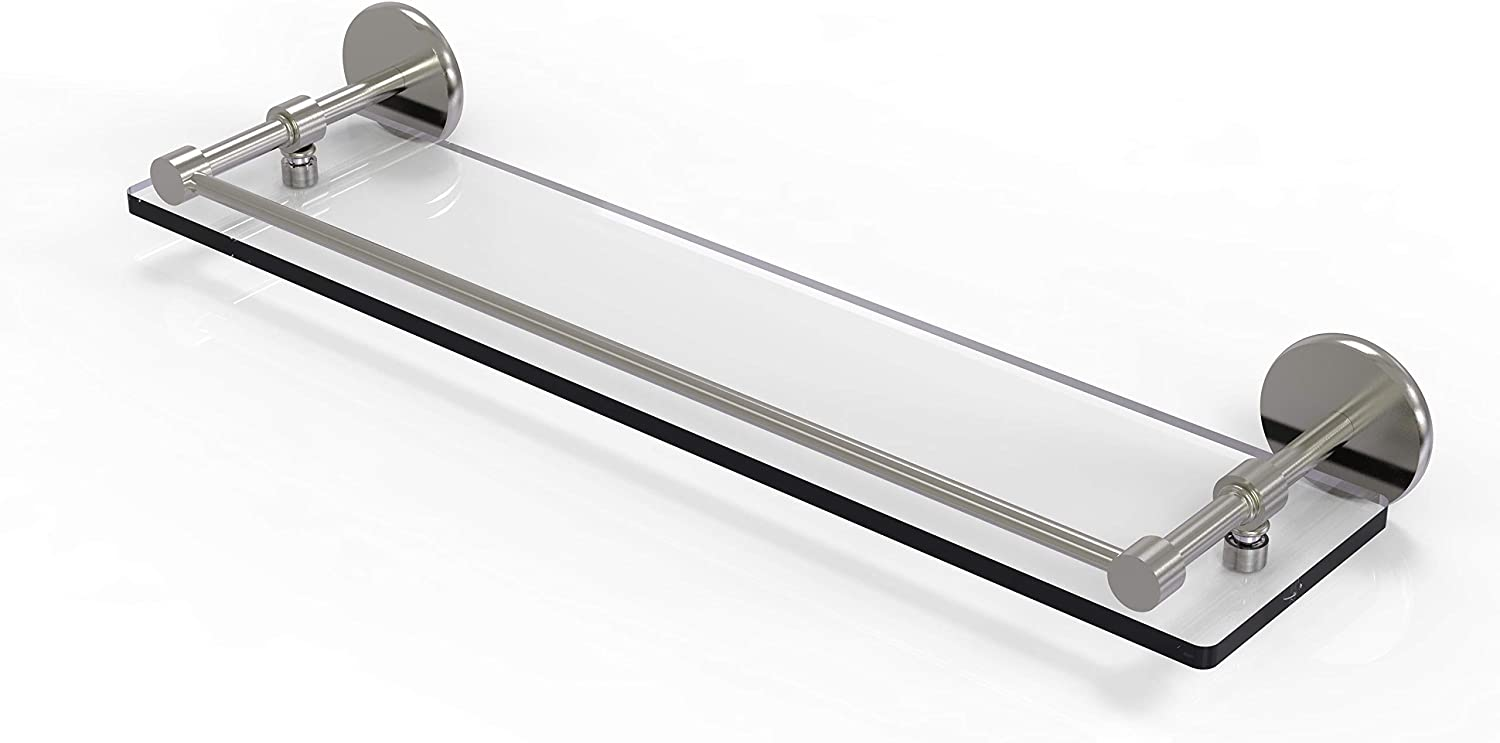 Allied Brass P1000-1 22-GAL-SN 22 Max 75% OFF Rail Inch Tempered Gla Max 44% OFF Gallery