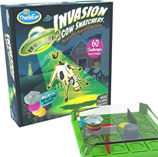 ThinkFun Invasion of the Cow ers STEM Toy and Logic Game for Boys and Girls Age 6 and Up - A Magnet Maze Logic Puzzle