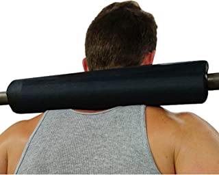 Dark Iron Fitness 17 Inch Extra Thick Barbell Neck Pad - Shoulder Support for Weight Lifting Crossfit Powerlifting and More - Fits 2 Inch Olympic Size Bars and a Smith Machine Bar Perfectly