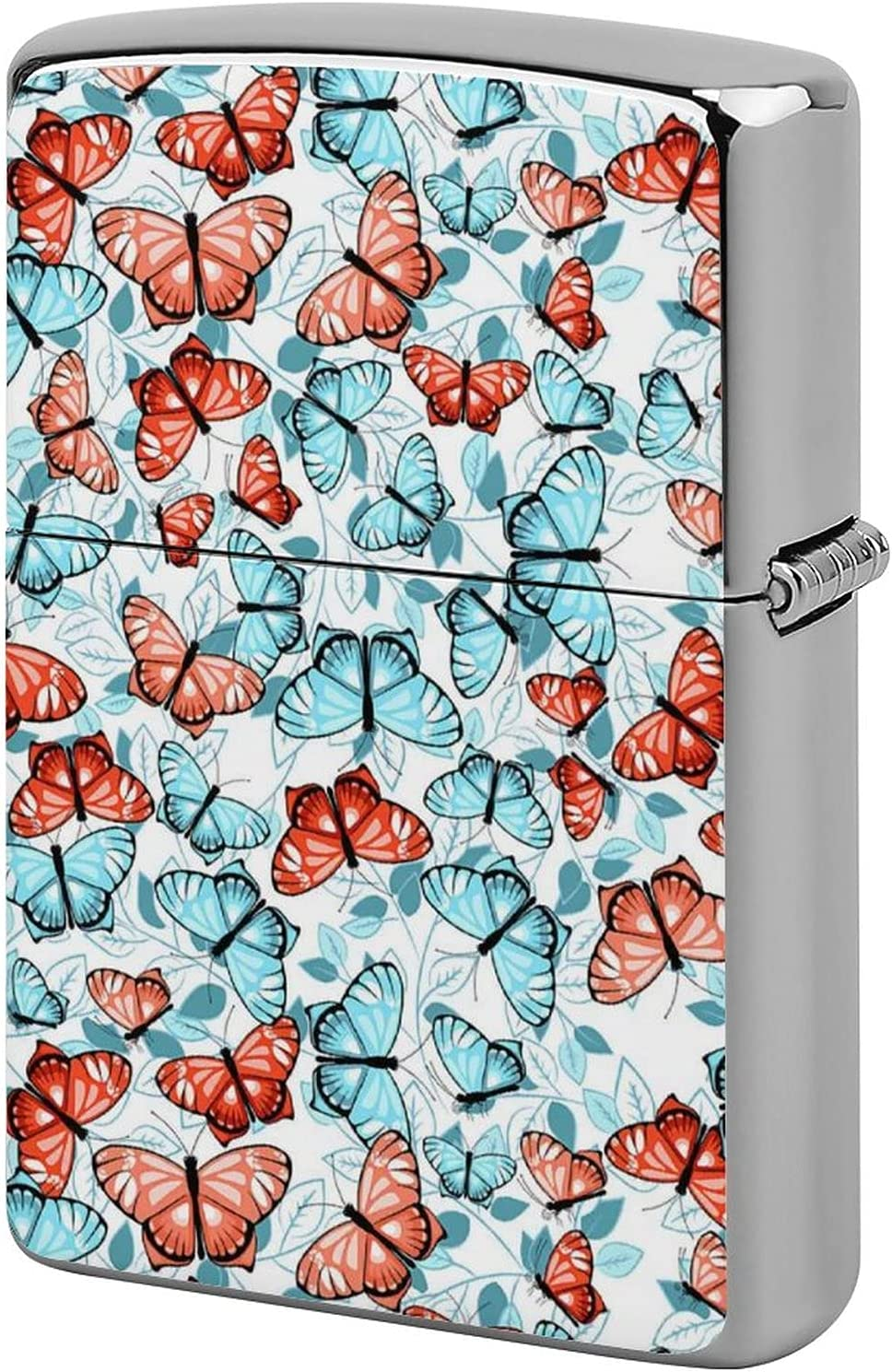 Lighter Large discharge sale Case Blue Butterflies Big Butterfly Ho Dome Elegant Half