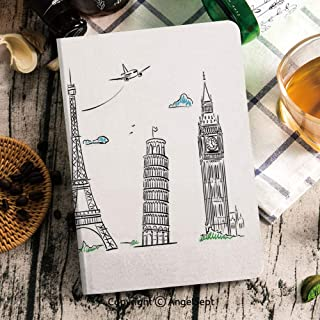 iPad Mini 5 Case - Premium Shockproof Case,Soft TPU Back Cover,Flip Stand Front Cover with Auto Sleep/Wake Feature for Apple iPad Mini 5th Generation,Travel Europe Symbol Sketch Paris,Rome,London,Pisa
