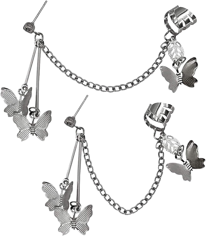 Women's Dainty Butterfly Super popular specialty store Ear Cuff Earrings Crawler Women Genuine for Gir
