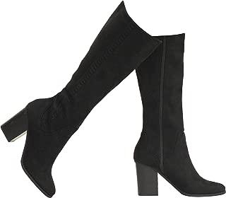 MVE Shoes Women's Forever Slip on Stylish Knee High Boots, Hickory Blk IMSU 5.5