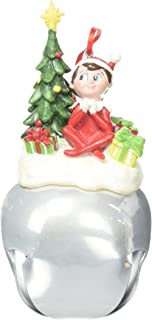 The Elf on the Shelf Ornament Featuring The Elf with a Tree Sitting ATOP a Large Jingle Bell, 5.5-Inch