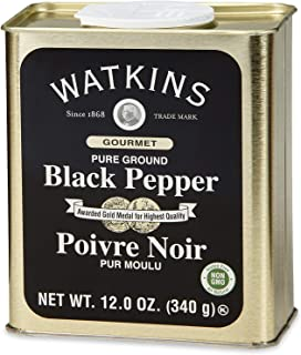 Sponsored Ad - Watkins Gourmet Spice Tin, Pure Ground Black Pepper, 12 oz. Tin, 1 Count