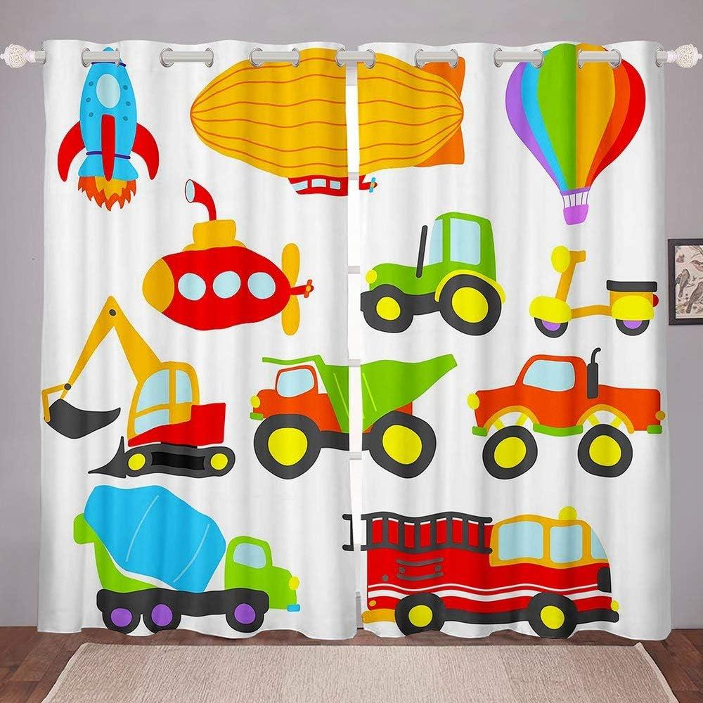 Hot Air セール Balloon Window Curtain Cartoo Concrete Mixer お気に入り Lovely Cute